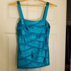 Cache Tops - Caché Turquoise Mermaid layered top